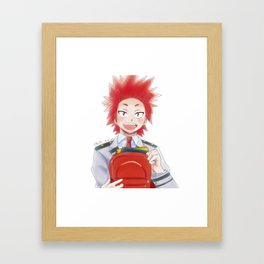 Kirishima Eijirou school day Framed Art Print