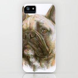 French bulldog original art print iPhone Case