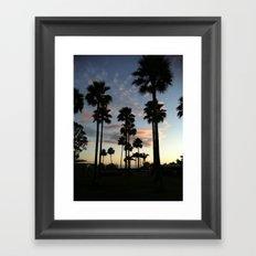 santa barbara sky Framed Art Print