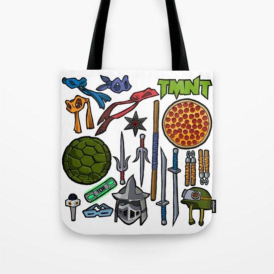 TMNT Weapons & Masks Tote Bag