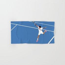 Roger Federer Backhand - Landscape Hand & Bath Towel