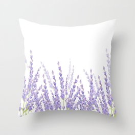 Lavender in the Field Throw Pillow
