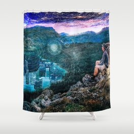 Portal of the Mind Shower Curtain
