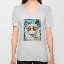Grumpy Cat Is Still Grumpy Unisex V-Neck