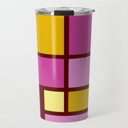 Mondrianista yellow fuchsia Travel Mug