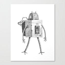 Hardworking Bot Canvas Print