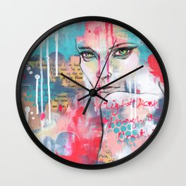 Light leaks through the cracks Wall Clock