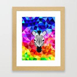 Zebra Dazzle Framed Art Print