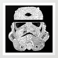 gore Art Prints featuring Gore Trooper Blk/Wht by Josh Ln