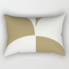 Diamond Series Round Checkers White on Gold Rectangular Pillow