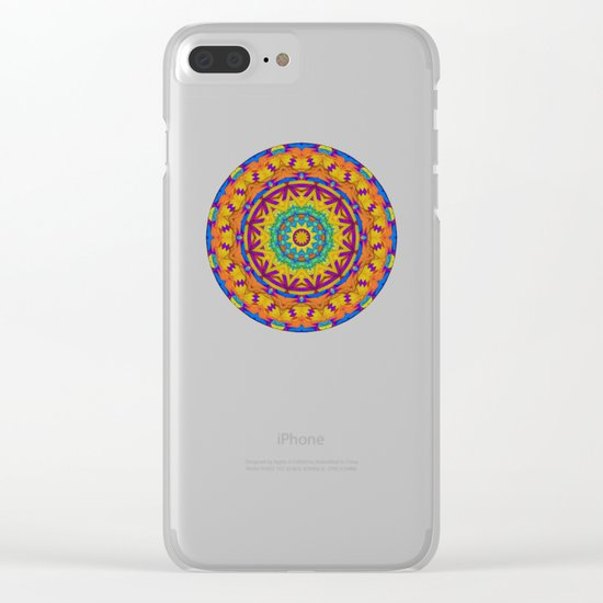 Colorful Geometry Clear iPhone Case