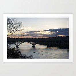 Boat House Row, Schuylkill River, PA Art Print