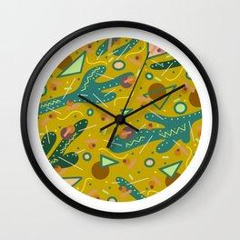 Pokey Mustard Wall Clock