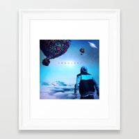 onward Framed Art Prints featuring Onward by Brennan Gallegos