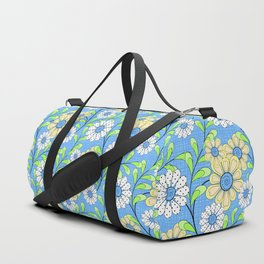 Bright floral pattern. Duffle Bag