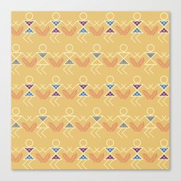 Summer Warli Print Canvas Print