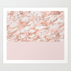 Massarosa rose gold on blush Art Print