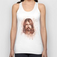 dave grohl Tank Tops featuring Dave Grohl by Renato Cunha