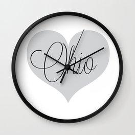 Ohio Script Love Wall Clock