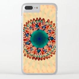 Earthy Starburst Mandala Clear iPhone Case