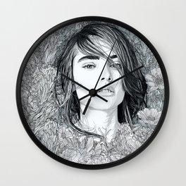 White Moon Garden Wall Clock