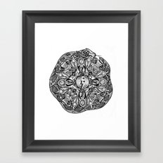 Horcrux Mandala Framed Art Print