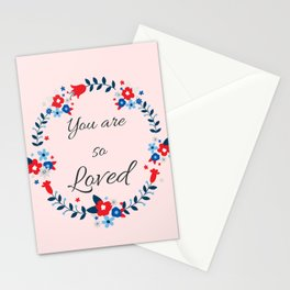 You are so loved Affirmation Stationery Cards