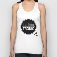 techno Tank Tops featuring Techno Tronic by Thomas Official