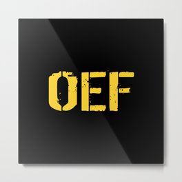 U.S. Military: OEF Metal Print