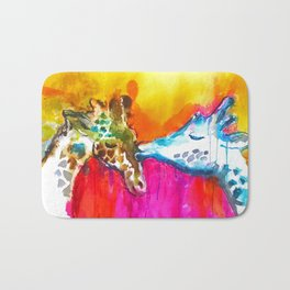 Giraffe Kiss Bath Mat