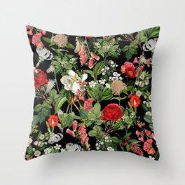 Botanical Pattern Throw Pillow
