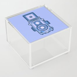 Vintage camera blue Acrylic Box