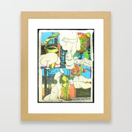 Nude with Pitcher Plants Framed Art Print