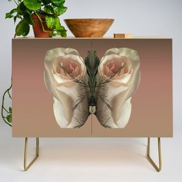 Vanilla Butterfly Roses Credenza