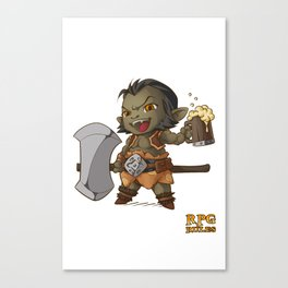 RPG Rules. Barbarian Canvas Print