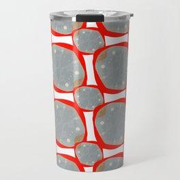 Red Organic Rings Travel Mug