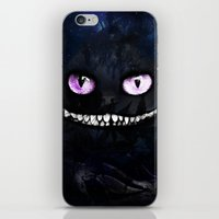cheshire cat iPhone & iPod Skins featuring CHESHIRE by Julien Kaltnecker