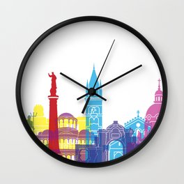 Messina skyline pop Wall Clock