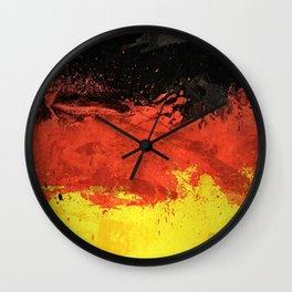 German Flag Art Wall Clock