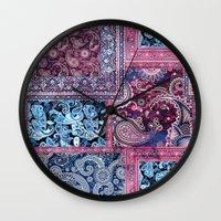 ethnic Wall Clocks featuring Ethnic by RIZA PEKER