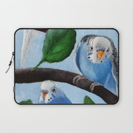 Spinach Tree Parakeet Painting Laptop Sleeve