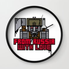 From Russia With Love Wall Clock