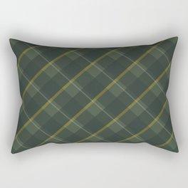 Green yellow plaid Rectangular Pillow