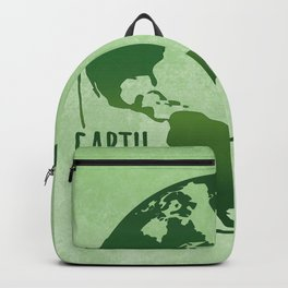Earth Matters - Earth Day - Grunge Green 01 Backpack