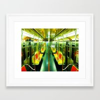 subway Framed Art Prints featuring Subway  by Ashley White Jacobsen