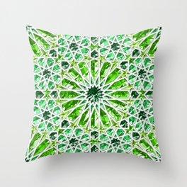 Geometric gemstones (emerald) Throw Pillow