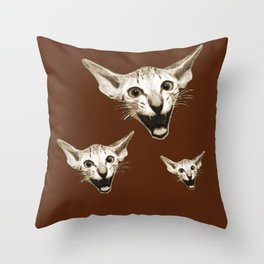 The Laughing Cat Throw Pillow