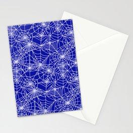 Royal Blue Cobwebs Stationery Cards
