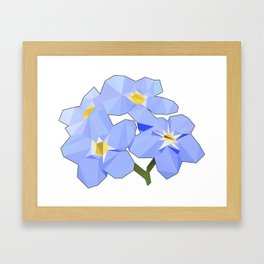 Forget Me Nots Low Poly Framed Art Print