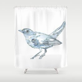 Nightingale Watercolor Sketch Shower Curtain